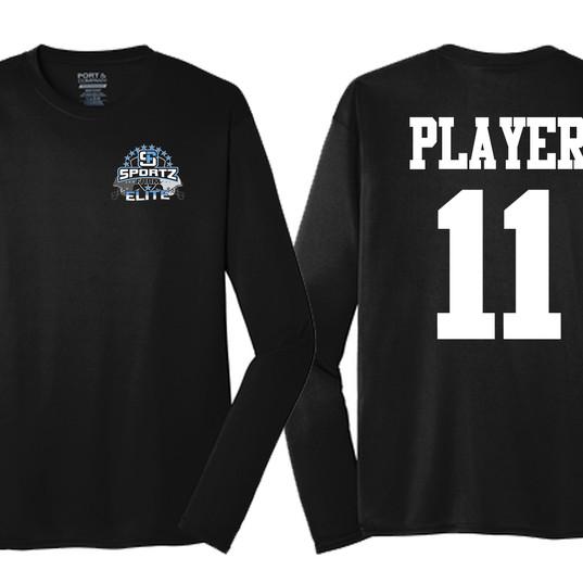 SportzFarm Long Sleeve Practice Wear - Black