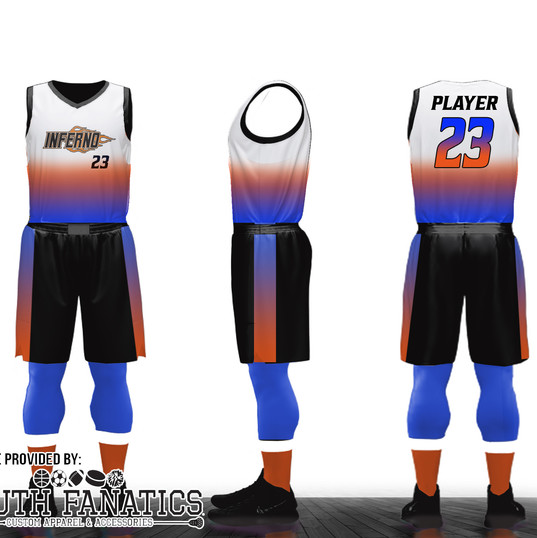 Inferno Custom Basketball Uniform mockup