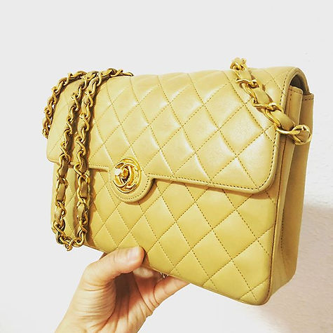 The return of the beige mini. Buy a piece of heritage with us today at _welovechanel.jpg