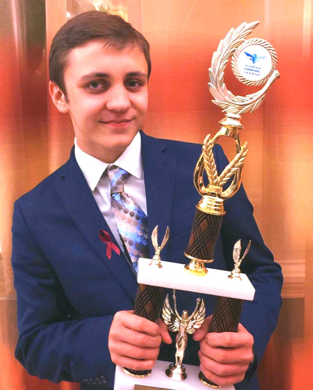 Matteo Mauro,GBHS, wins the 2020 North Florida Optimist Oratorical Contest & advances to nat