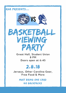 UNC vs Duke Basketball Viewing Party Fly