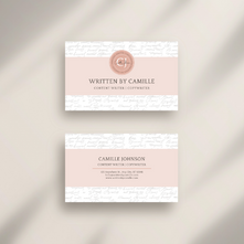 Written By Camille Business Cards