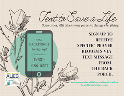 text BACKPORCH to sign up!