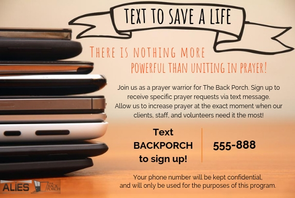 text to save a life - new number photo