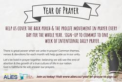 Year of Prayer postcard- front