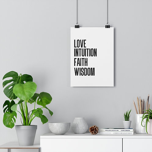 Love Intuition Faith Wisdom Art Print