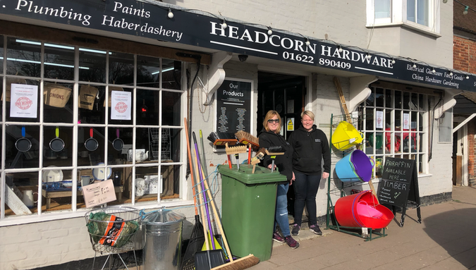Sarah & Karen at Headcorn Hardware