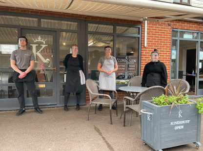 Ciaran, Becky, Debbie and Emma at Kingsbury Coffee Lounge