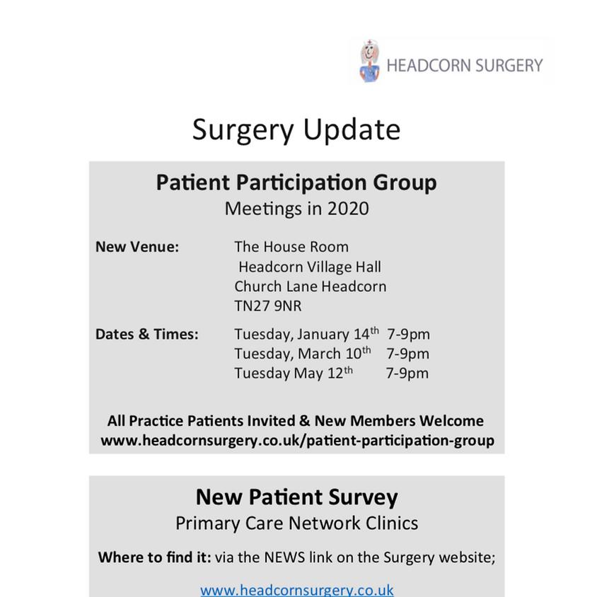 Headcorn Surgery Patient Participation Group