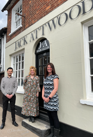 Jack, Jess and Emily at Jack Attwood Hair Salon