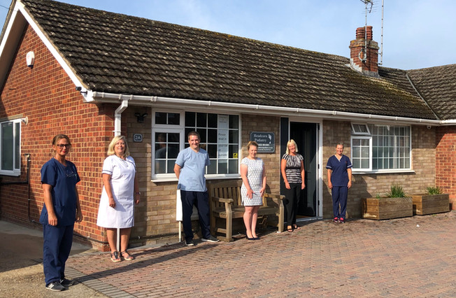 Andrea, Jill, Robert, Sam, Nina and Kirstie from Headcorn Podiatry