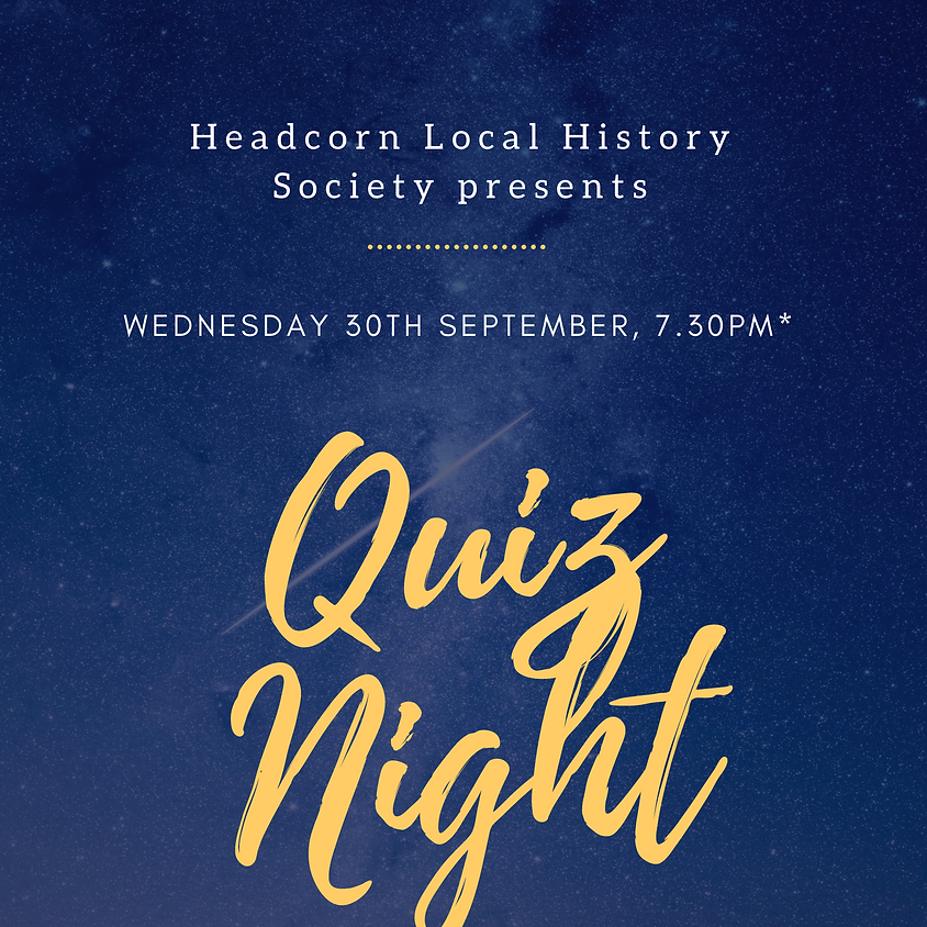 Local History Society Quiz Night (Provisional Date)