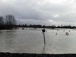 Flooded fields surrounding Headcorn, Kent