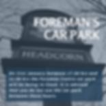 FOREMAN'S CAR PARK Notice