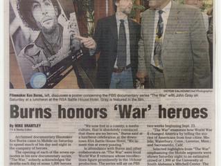 Burns Honors 'War' Heroes