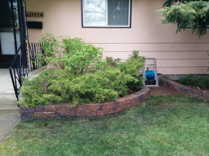 Retaining Wall & Mulch