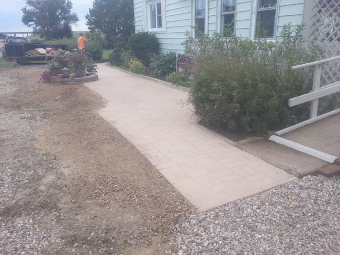 Patio Block Walkway Installation