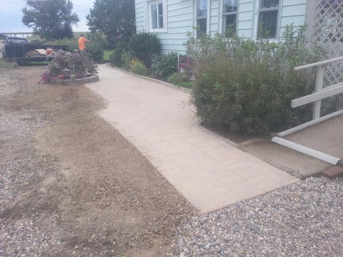 Patio Block Walkway Installation