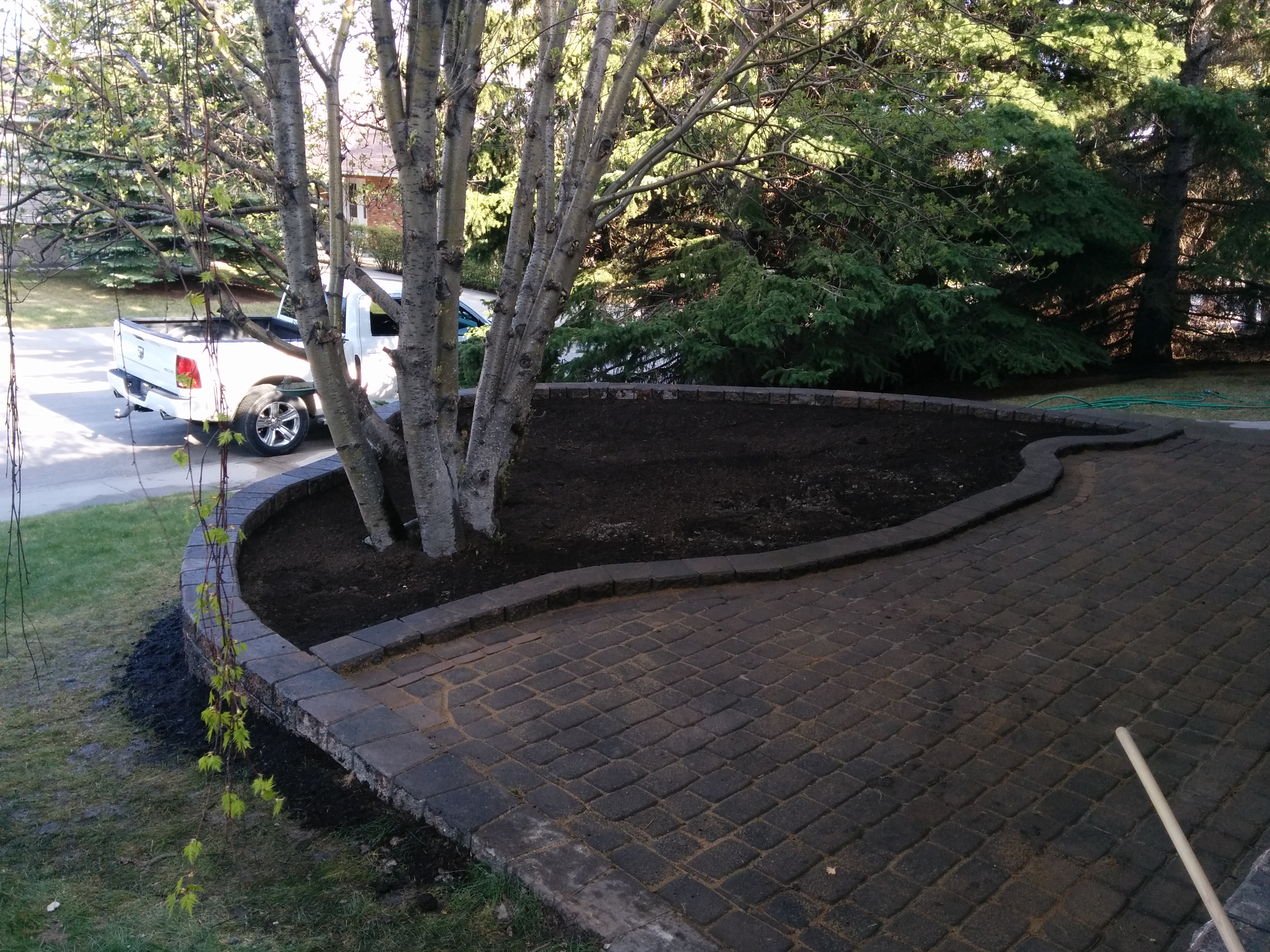 35' Curved Retaining Wall