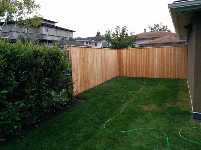 Back Yard Lawn & Fence Installtion