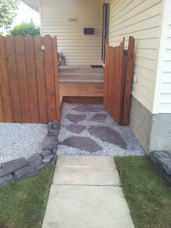 Flagstone Retaining Wall & Limestone