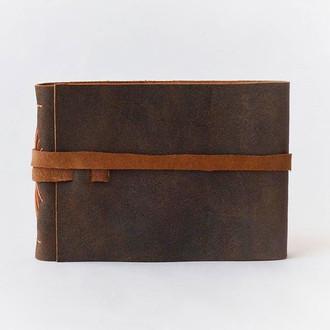 sketchbook em couro
