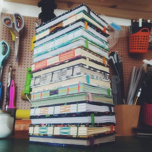 pilha de livros!