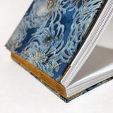 caderno lombada em couro