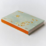caderno tecido floral