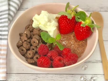 XO Crunch and Choc Protein Overnight Oats