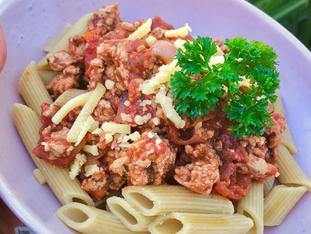 Turkey Bolognese with Hi Protein Pasta