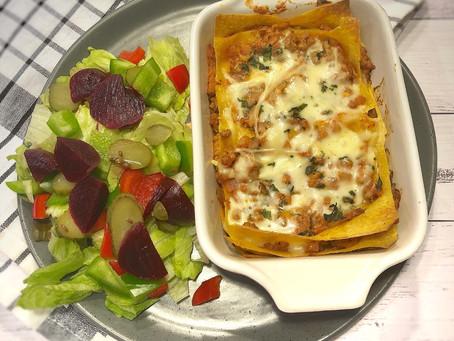 Pumpkin Lasagna with a Beef & Zucchini Sauce