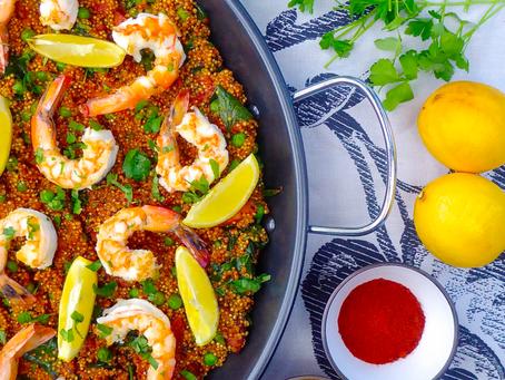 Prawn and Chorizo Quinoa Paella