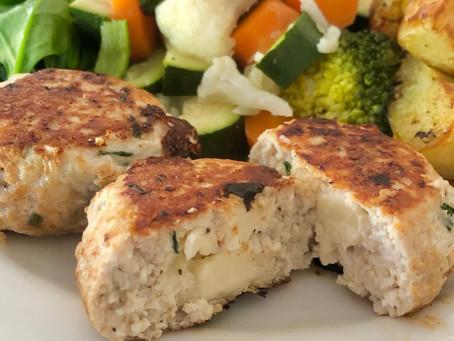 Cheesy Chicken & Chive Rissole