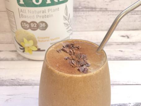 Crunchy Choc Caramel Protein Smoothie