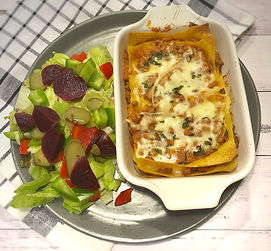 Pumpkin Lasagna with a beef and zucchini