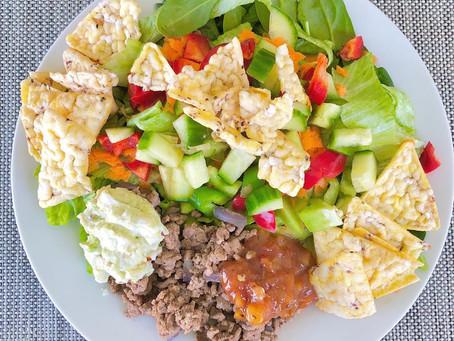 Naked Beef Nacho Salad