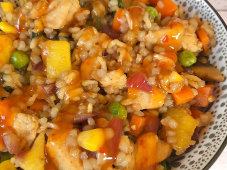 Easy Chicken & Pineapple Fried Rice