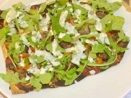 Healthy Lamb Mountain Bread Pizza