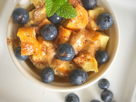 Almond Butter French Toast Pudding