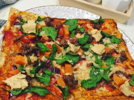 Sweet Potato and Lamb Mince Healthy Pizza