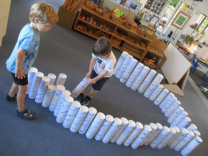 Loose parts are used to promote creative thinking.
