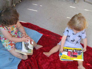 Children reading to themselves