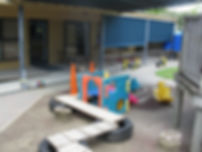 Out door play area for infants and toddlers