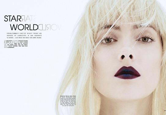 Female beauty, makeup