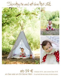 Fotoshooting mit dem Tipi-Zelt