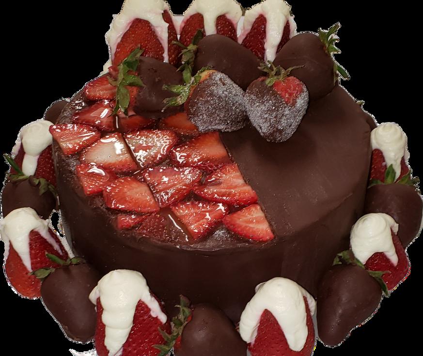Chocolate, Strawberry cake