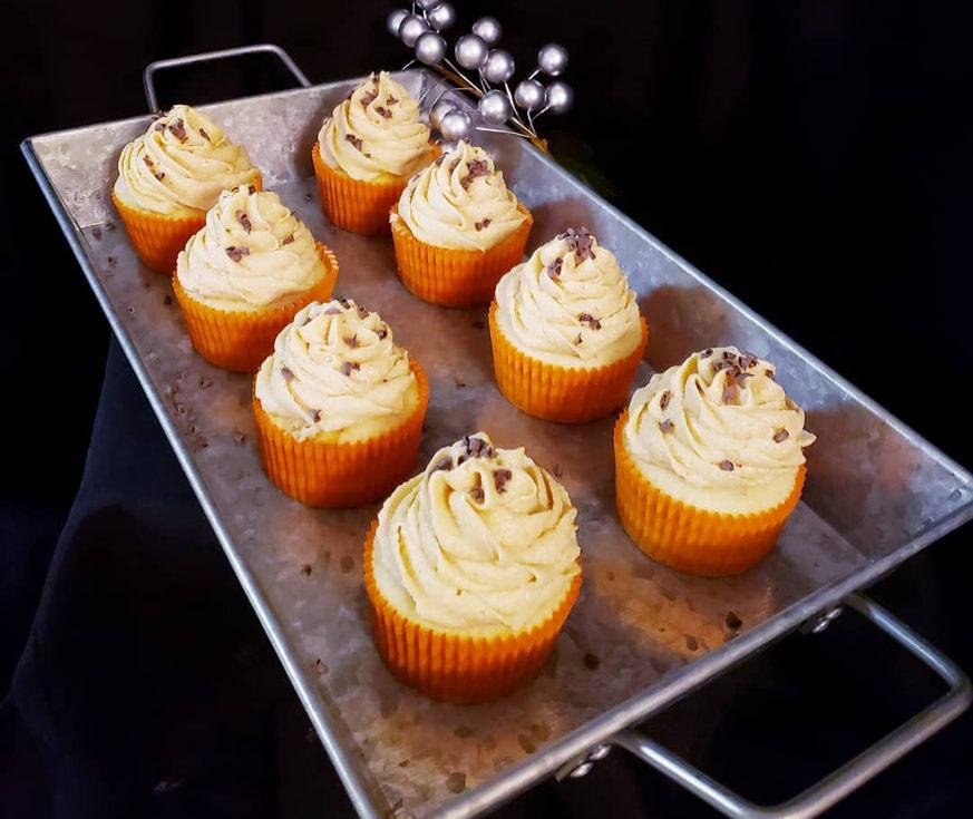 Caramel Cupcakes with chocolate sprinkle