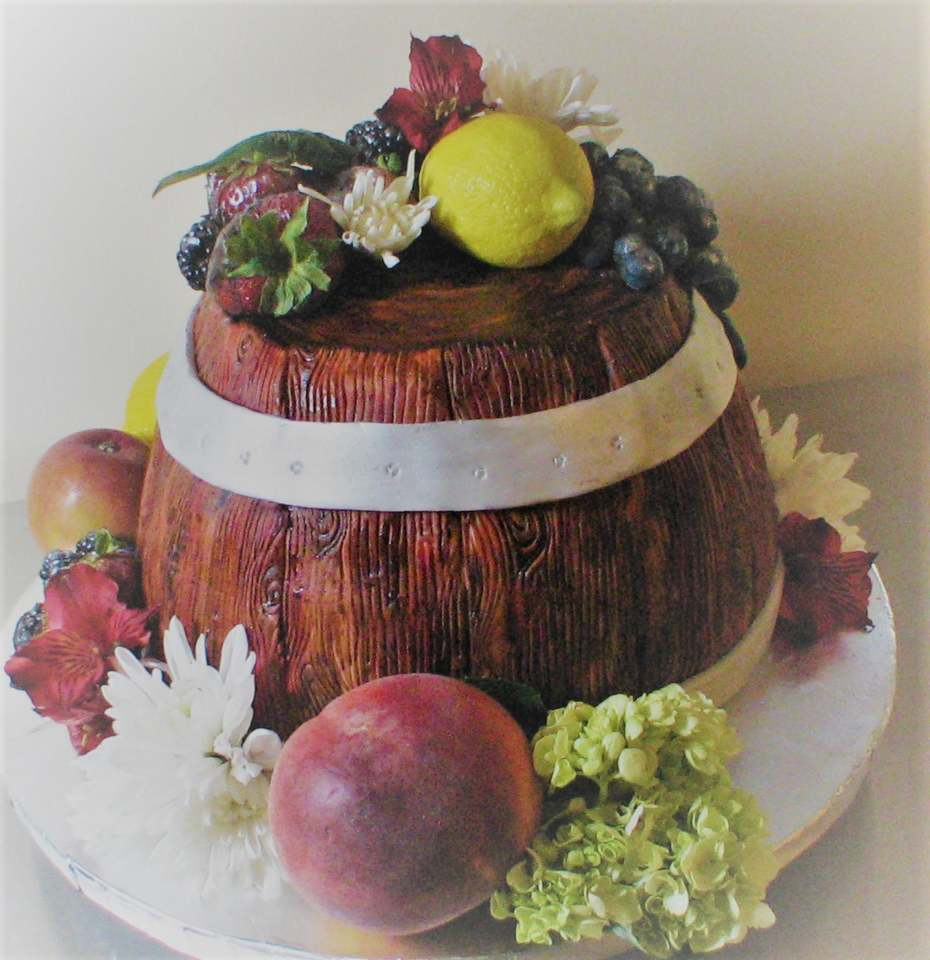 Half Wine Barrel Cake