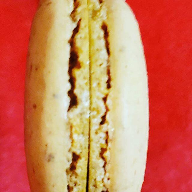 Almond vanilla macaron